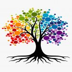 Rainbow tree of healing