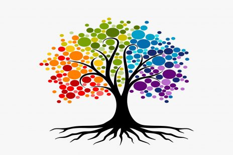 Rainbow tree of healing