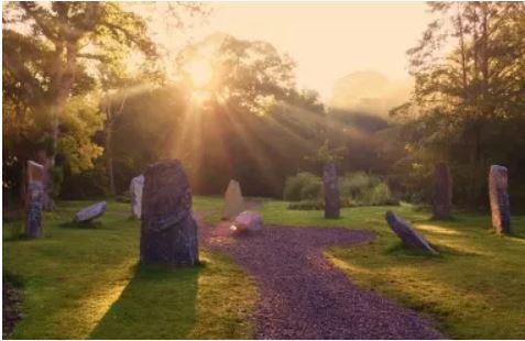 Blarney Castle Rock Close garden megalithic monument