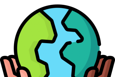 Diversity hands holding world globe