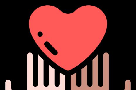 Diversity hands holding heart